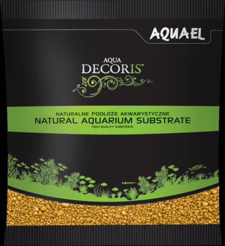 AquaEl Decoris Yellow - Akvárium dekorkavics (sárga) 2-3mm (1kg)