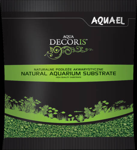 AquaEl Decoris Green - Akvárium dekorkavics (zöld) 2-3mm (1kg)