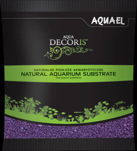 AquaEl Decoris Purple - Akvárium dekorkavics (lila) 2-3mm (1kg)