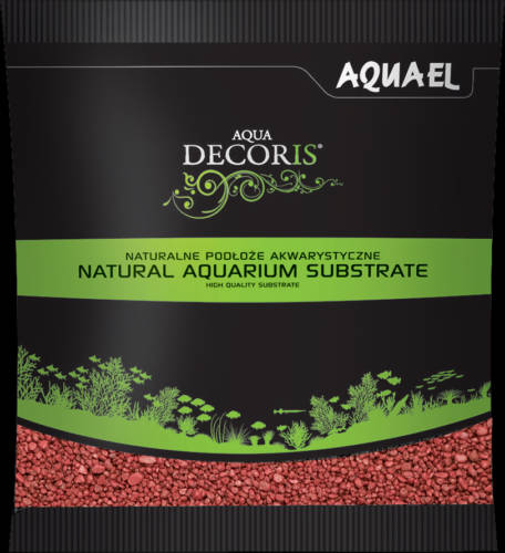 AquaEl Decoris Red - Akvárium dekorkavics (piros) 2-3mm (1kg)