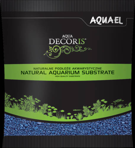 AquaEl Decoris Blue - Akvárium dekorkavics (Blue) 2-3mm (1kg)