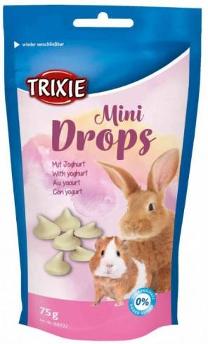 trixie 60332 mini drops 75g yoghurt